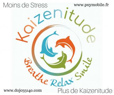 Logo moins de stressplus de kaizenitude